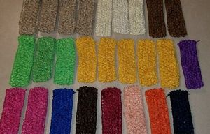 """Other - Baby crocheted 1.5"""" headbands 25 pieces"""